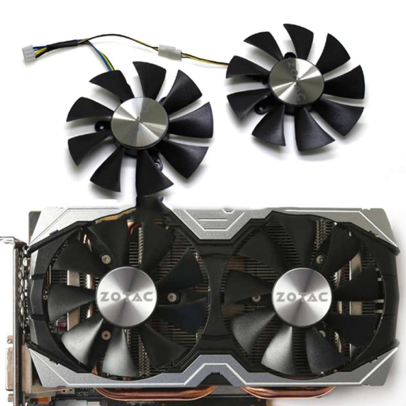 Original 85mm GFY09010E12SPA 4pin PC Cooling Fan For ZOTAC GTX1060 6GB GTX 1070 Mini  GPU Graphics Card Fan Cooler Fan Replace