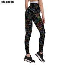 Maoxzon femmes mode taille haute Ioga Fitness Slim plissé hanches Leggings pour femme imprimé survêtement gymnase élastique Skinny pantalon