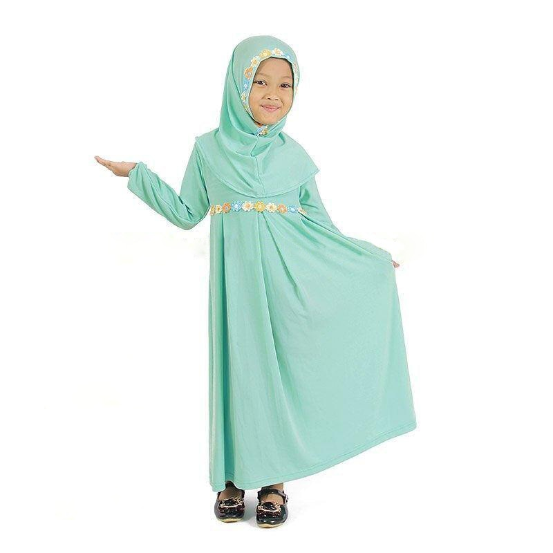 2019 г. мусульманское платье комплект для девочек мусульманская одежда