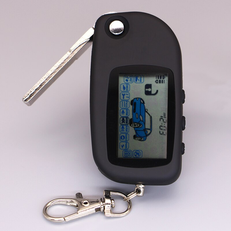 Starline A6 uncut case with key fob keychain remote controller for starline A6 two way auto car alar