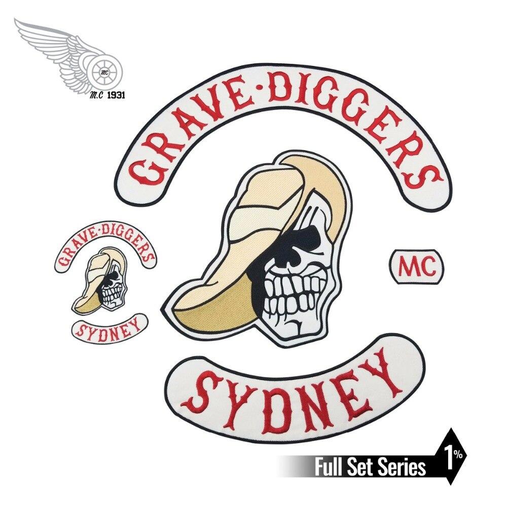GRAVE DIGGERS MC Club gilet de motard   patch brodé sur les patchs pour veste, articles de moto appliqués