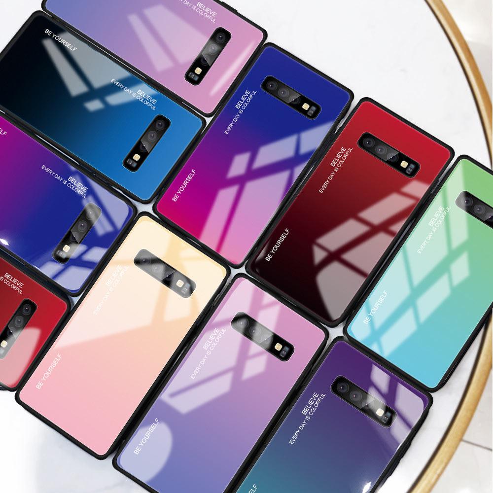 Funda de vidrio templado KISSCASE para Samsung Galaxy S10 5G S10 Plus S10e S10 funda de vidrio degradado para Samsung S9 más S9 S8 más S8 funda samsung s10 fundas para samsung note 8 9