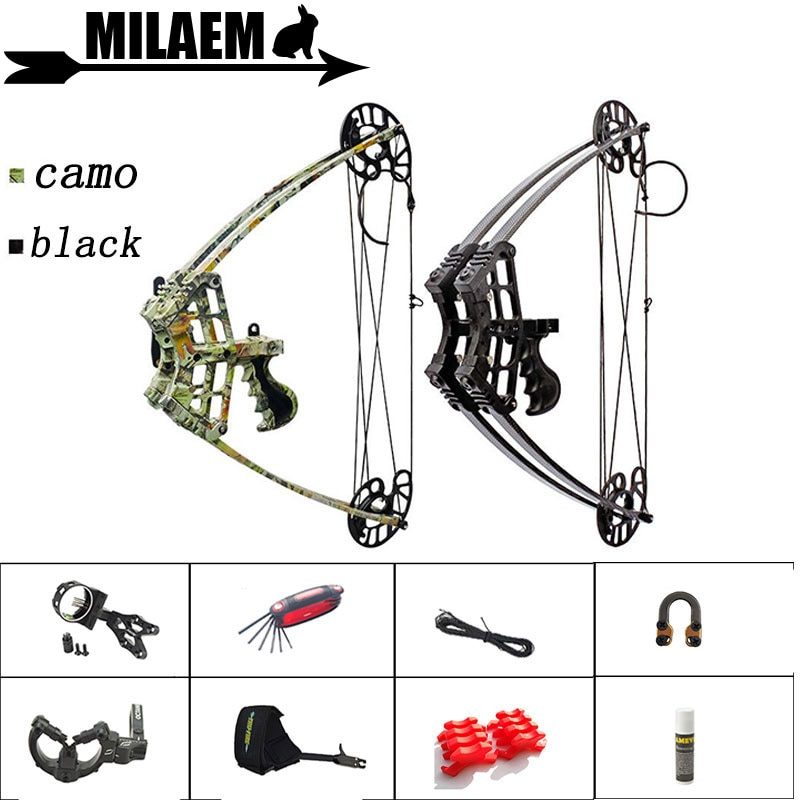 1Set 45lbs Archery Compound Bow Triangle Bow Car Hunting IBO 270FPS Left Right Hand General Purpose Outdoor Shooting Accessories