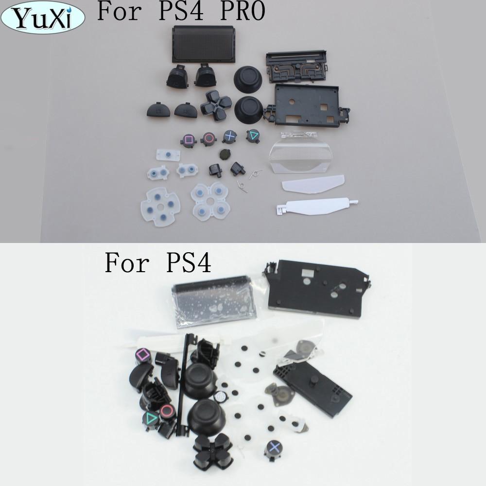 Для ps4 pro L1 R1 L2 R2 ABXY Кнопка запуска с аналоговым джойстиком Крышка Замена для Playstation 4 для PS4 контроллер JDM-040