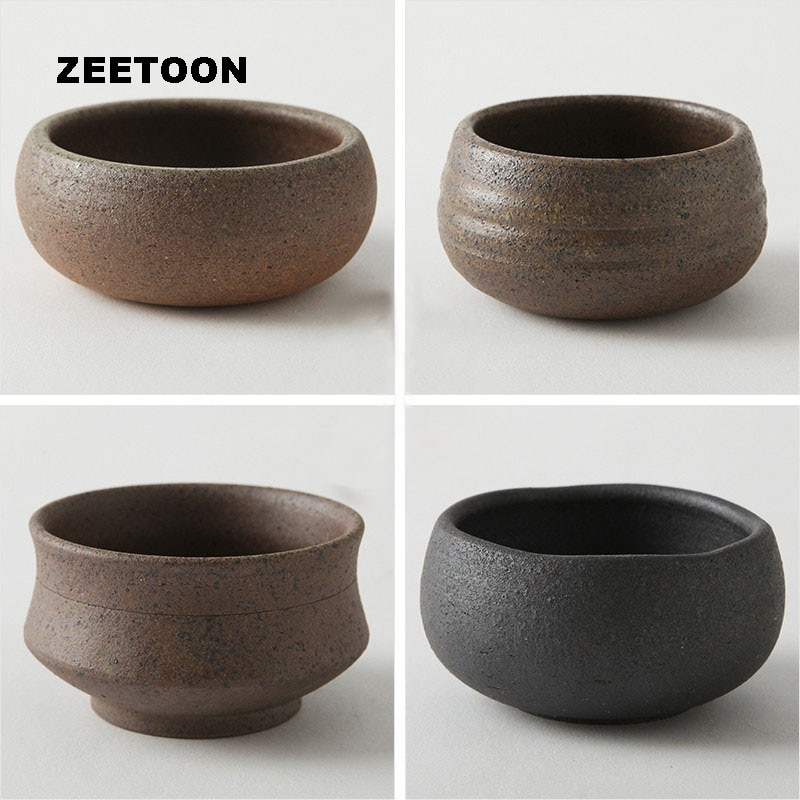 120ml estilo japonés Yixing arcilla púrpura taza de té de porcelana de té gruesa taza maestra juego de té Kung Fu decoración creativa Vintage hogar nuevo