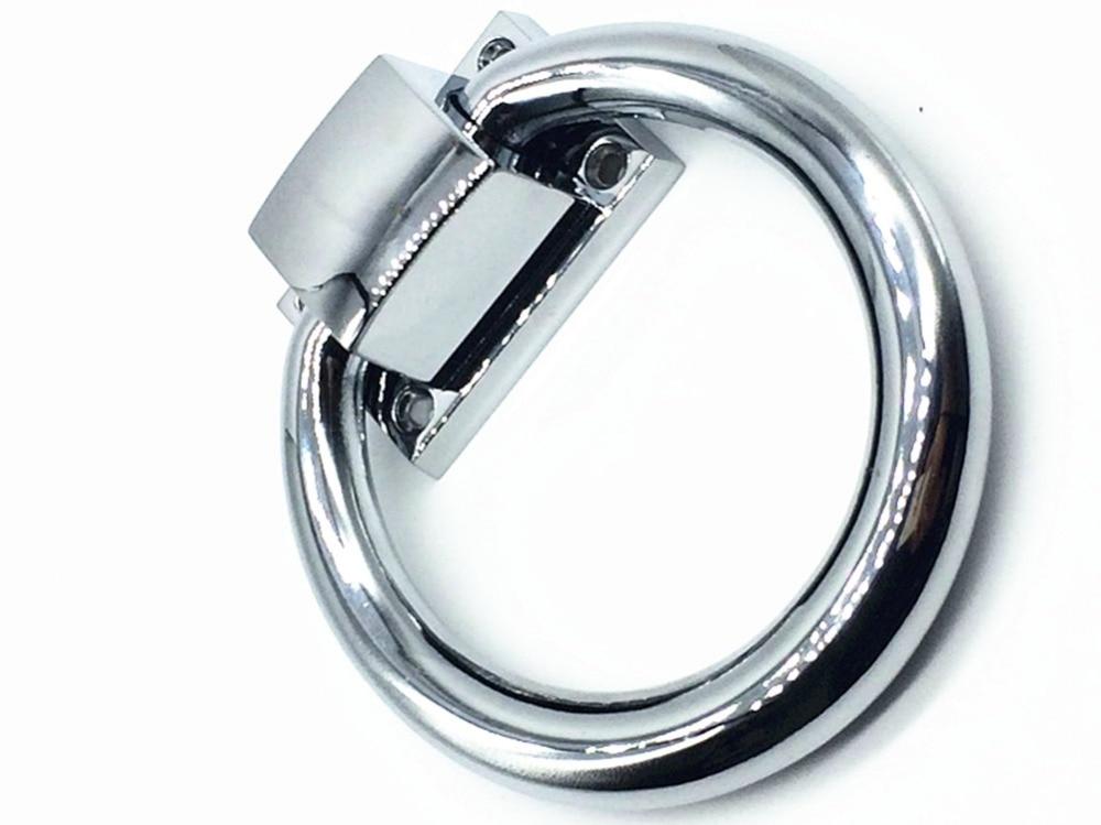 UNILOCKS 2 sztuk/partia srebrne większe pierścienie do kołatania kołatka jasna chromowana krzesło drewniane uchwyty ciągnie proste gałki meblowe nowoczesne