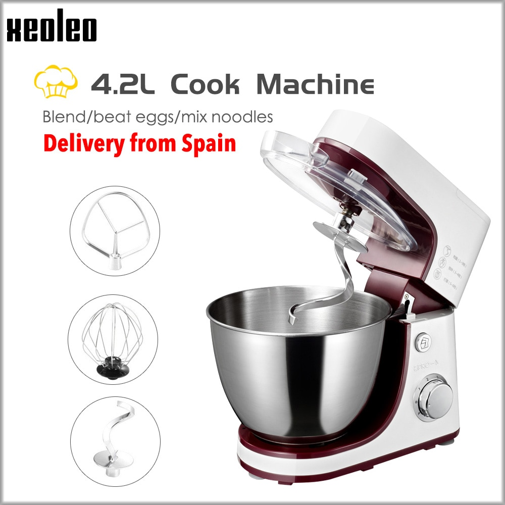 XEOLEO Planeten Mixer Elektrische Teig mixer 4,2 L Kuchen mixer Teig kneten maschine Weiß Ha Koch maschine schneebesen