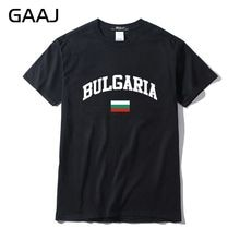 GAAJ, болгарийский флаг, Мужская футболка с коротким рукавом, мужские футболки для мужчин, забавная брендовая одежда 3XL, футболка, 100% хлопок, футболка # N498G
