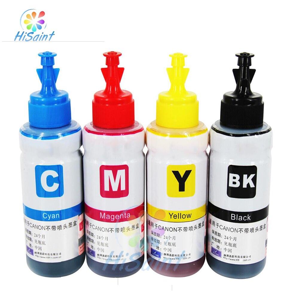 T6641-T6644 Hisaint tinta corante de alta qualidade de recarga de cartuchos de tinta 70 ml de tinta a granel para epson l355 Sistema De Tanque de Tinta a Jato de tinta impressora