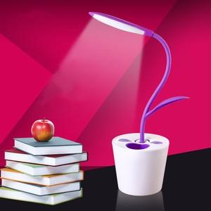 New USB Rechargeable LED Reading desk lamps hose table light student dormitory Children bedroom night lights indoor lighting