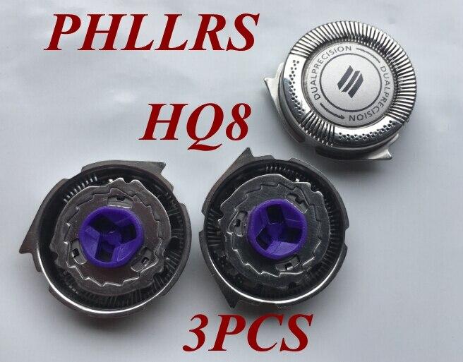3 uds HQ8 hoja de afeitar reemplazar la cabeza para PHILIPS Shaver PT927 PT920 PT920CC HQ7120 HQ7290 HQ7310 HQ7320 HQ7325 HQ7340 HQ7345