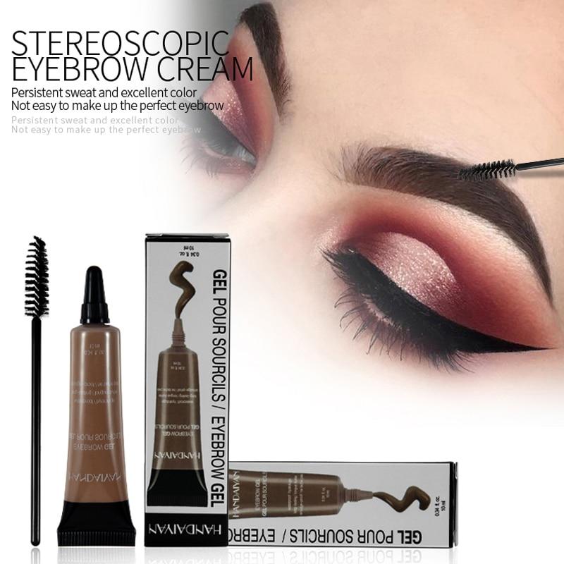 6 colores HANDAIYAN ceja Set crema + colorete máscara Gel impermeable ojo ceja Gel Pro maquillaje de belleza conjuntos