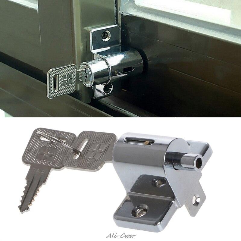 Lock Zinc Sliding Window Patio Screw Door Locking Pin Push Child Safety Lock