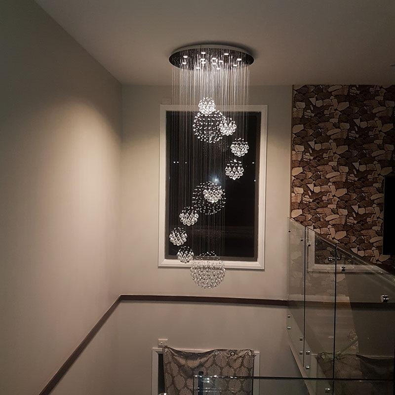 Nouveau K9 LED lustre en cristal moderne grande Villa lumière hôtel lumière lustres en cristal 110 v-240 v