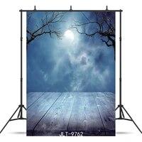 moonlight cloud wooden floor vinyl photographic background for portrait children baby new born backdrops photocall booth studio