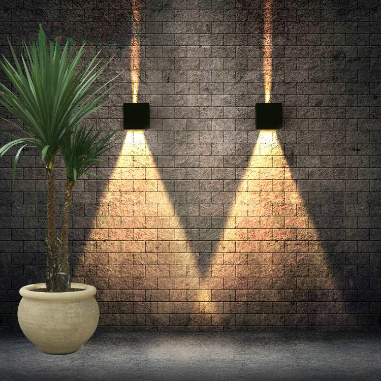 Lámpara LED moderna de 7W para pared, lámpara de pared impermeable para exteriores, luces para jardín, sala de estar Luz Para, Fondo para pasillo, candelabro para escaleras