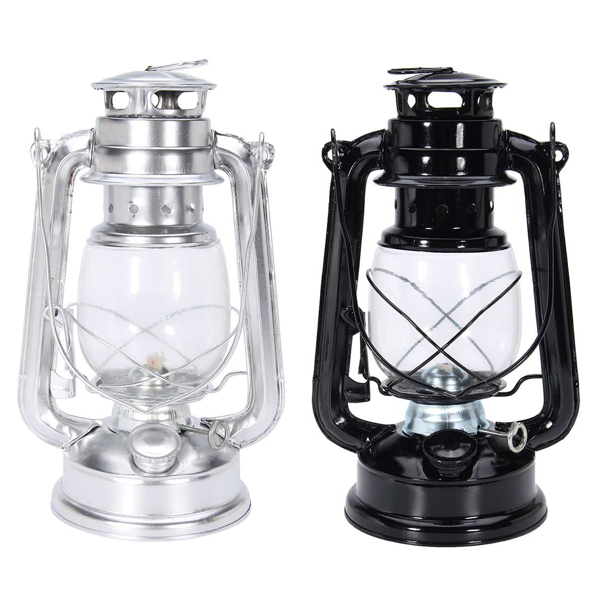 24cm Retro Classic lampa naftowa LED z możliwością przyciemniania Lamp naftowych knot przenośne na zewnątrz obóz parafiny huragan lampy stołowe