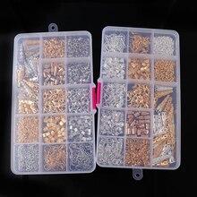 Perles en métal blanc or K coupe/boucle doreille crochet/JumpRings/broches/chaîne dextension/filigrane fleur creuse entretoise résultats de bijoux