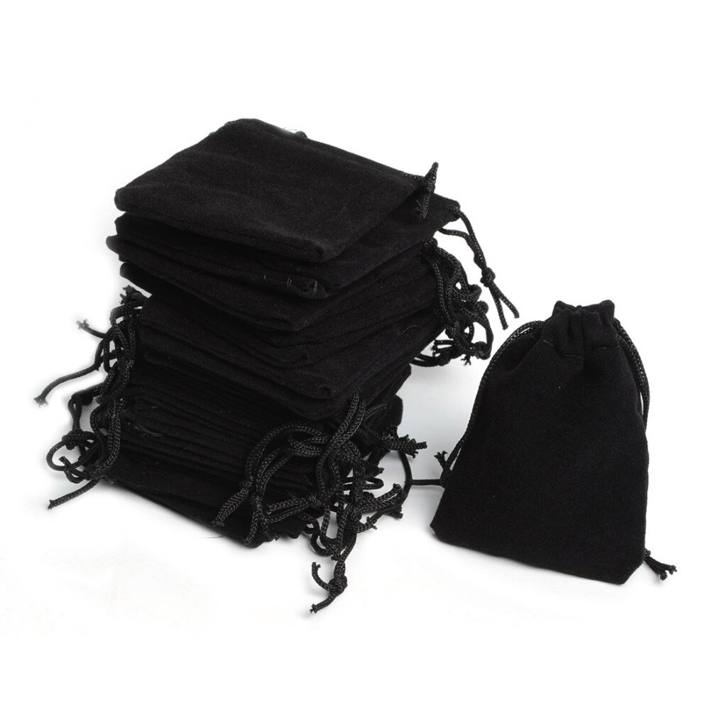 Бархатная сумка на шнурке, 100 шт., 5x7 см