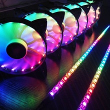 Ordinateur refroidisseur refroidissement RGB ventilateurs coque dordinateur PC ventilateur de refroidissement barre lumineuse Ultra silencieux LEDs boîtier ventilateur radiateur refroidisseur refroidissement