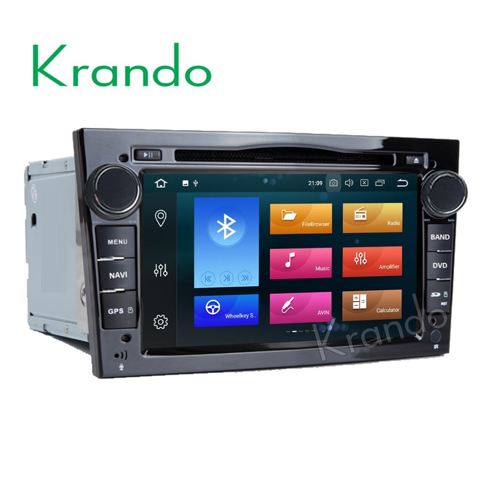 7 Krando Android 8.0 rádio do carro para OPEL Astra H Corsa Meriva Vivaro Zafira B Omega Tigra jogador Quad gps de navegação