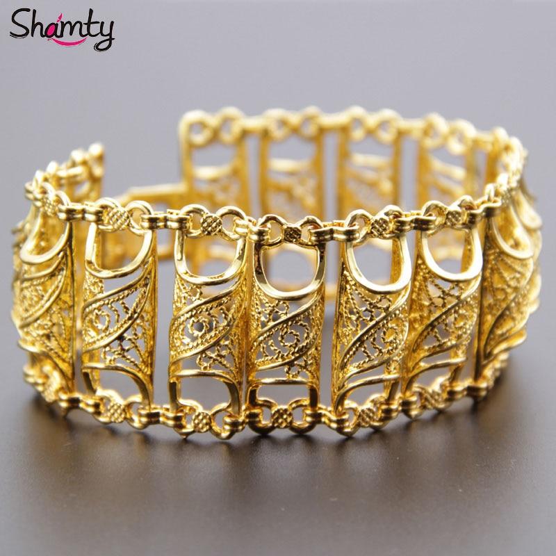 Arab Bracelet for Women Gold Color  Wide Bracelet Middle East Bangle Jewelry Dubai/India/Egypt/Turkey/Iraq/Iran/Syria/Africa