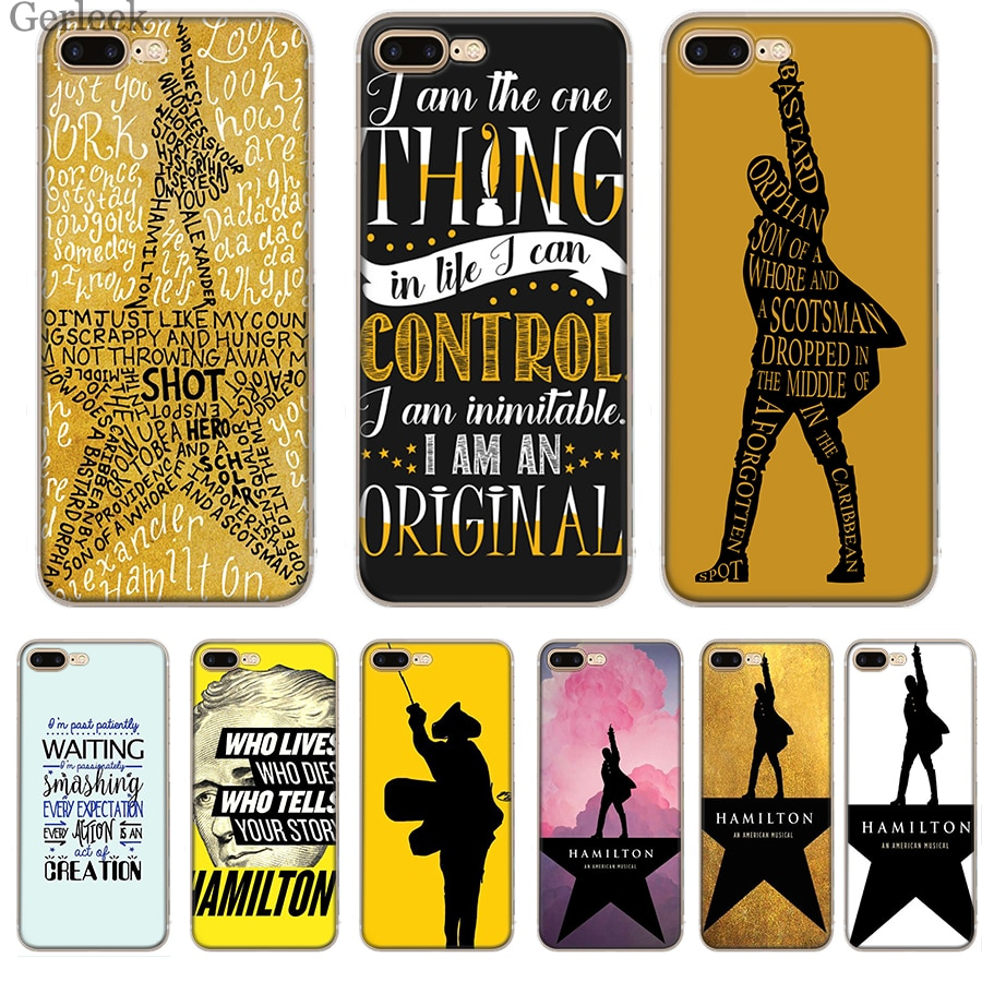 Чехол для телефона Hamilton Musical Lyrics для iPhone 7 8 6 6S 5 5S SE iPhone 11 Pro XR X XS Max