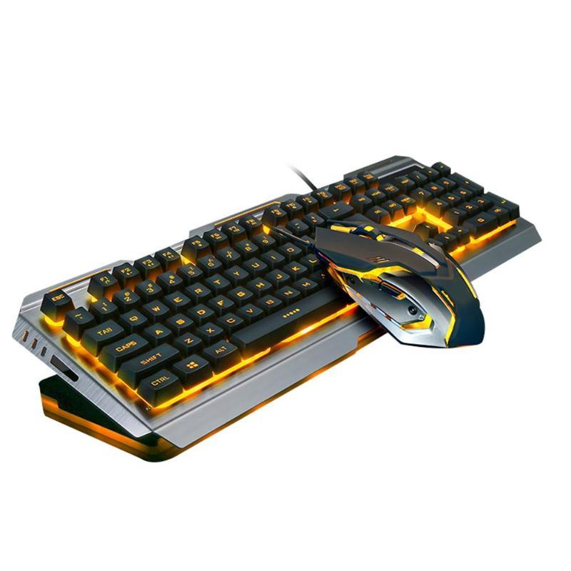 3200DPI оптическая мышь комплект геймер ноутбук игровой набор + V1 Проводная Подсветка с подсветкой эргономичная USB игровая клавиатура