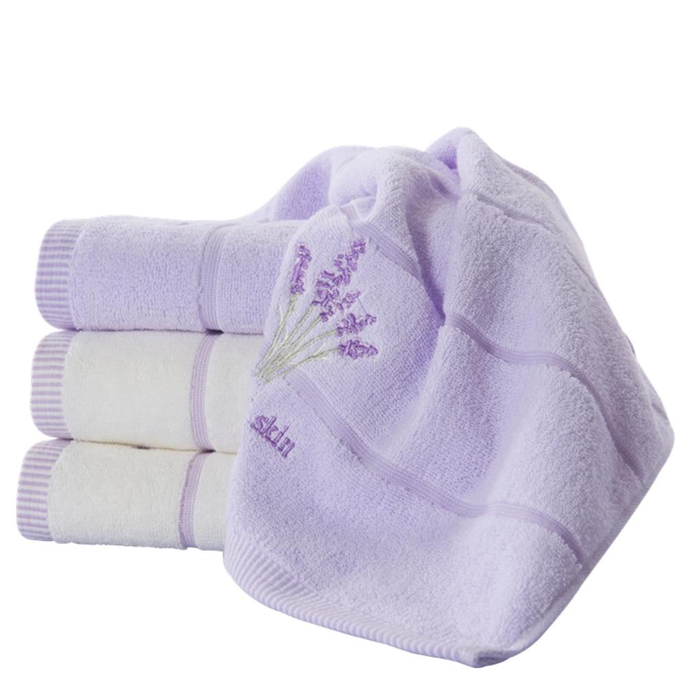 Face towel Quick-Dry 100% Cotton 35x76cm Mini Hair Drying Washrag Washcloths portable Hand towels Lavender Stripe Pattern Soft