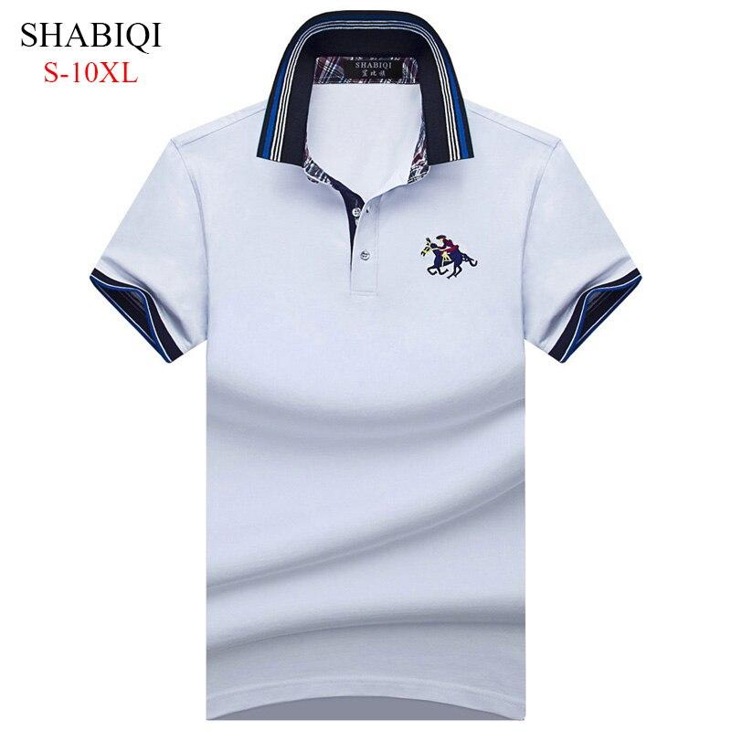 ¡Novedad de 2019! Polo clásico para hombre, Camisa de manga larga de otoño para hombre, Camisa Polo Masculina de talla grande 6XL 7XL 8XL 9XL 10XL