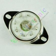 Großhandel und einzelhandel 4 stücke silber 8pin Keramik vakuum rohr buchse loctal ventil basis fr 5B254 audio amps kostenloser versand