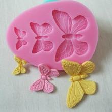 Moule à gâteaux papillon 3D Silicone 1 pièce   3 cavités pour le savon, le chocolat, le gâteau glace, outil de décoration de mariage