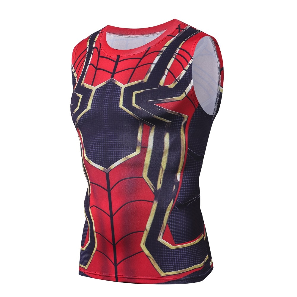 2018 Avengers 3 Iron Spiderman culturismo Fitness ropa Top hombres Camiseta de tirantes de ropa de gorila Undershirt Musculation Tanktops