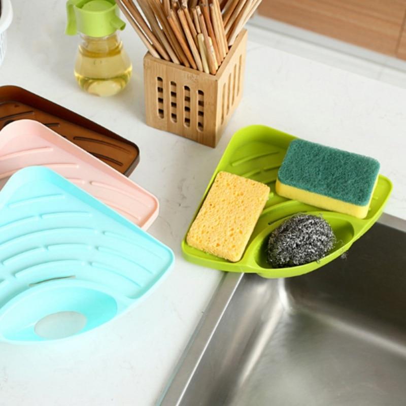 Органайзер для мытья кухонной губки, органайзер для кухонной раковины, держатель для мыла