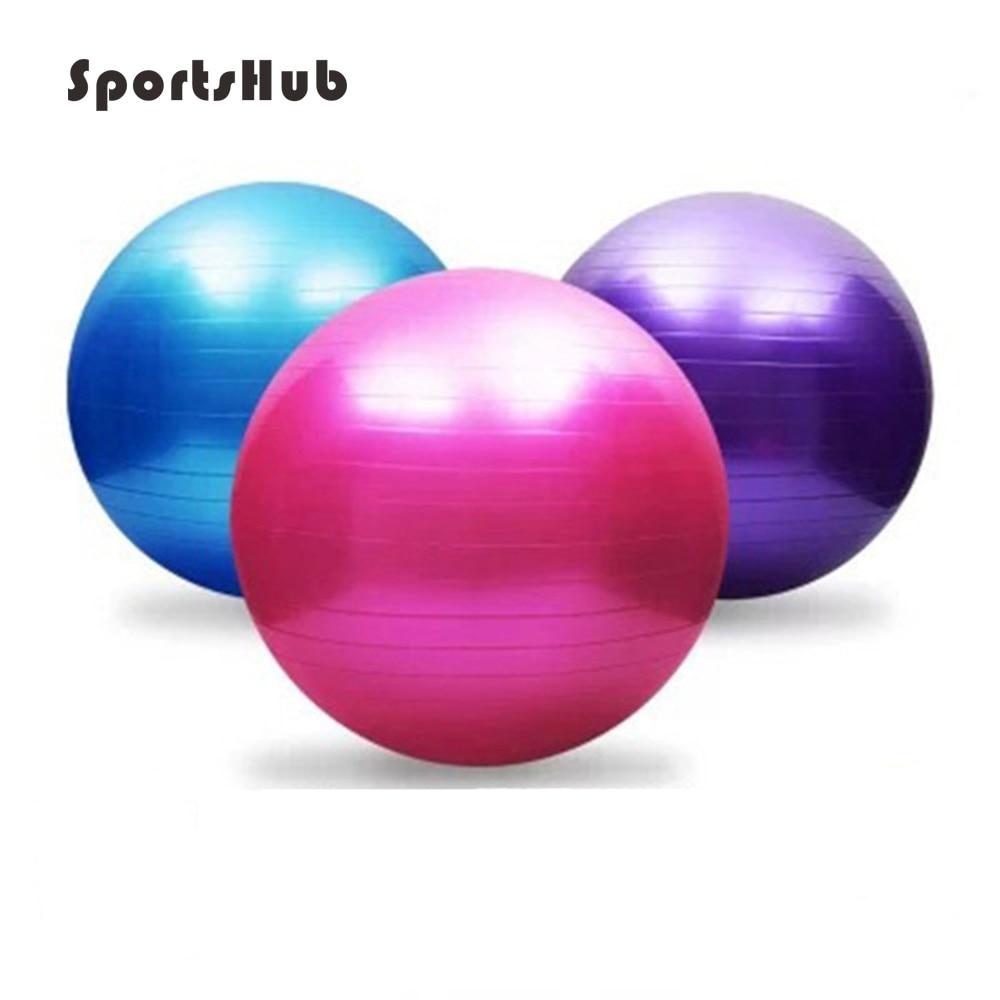 SPORTSHUB 75CM Yoga Fitness Ball Utility Yoga Balls Pilates Balance Sport Fit ball Proof Balls for Fitness Training EF0013