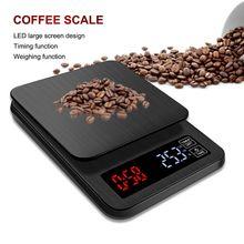 Balance de café de balance de nourriture de cuisine numérique de 5 kg/3 kg 0.1g avec lécran daffichage daffichage daffichage à cristaux liquides de minuterie pour cuire la cuisson nouvelle