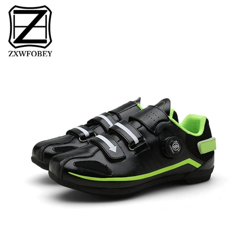 ZXWFOBEY, par de zapatos de ciclismo para hombre y mujer, zapatos reflectantes para bicicleta de montaña MTB, zapatilla de deporte para ciclismo, bicicleta de carreras de Triatlón
