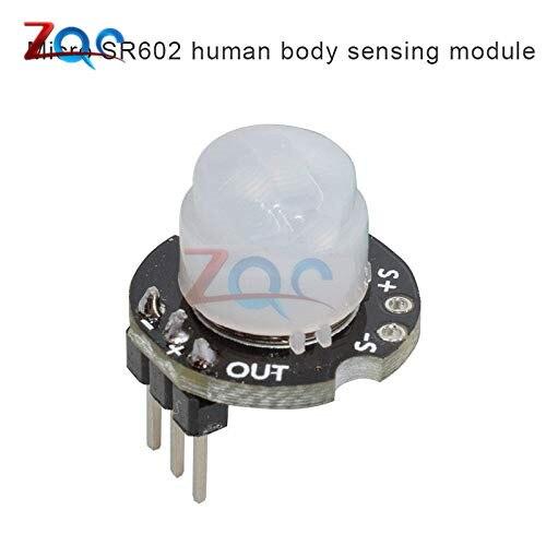 MH-SR602 MINI Motion Sensor Detector Module SR602 Pyroelectric Infrared PIR kit sensory switch Bracket for Arduino Diy With lens