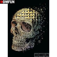 "HOMFUN Full Square/Round Drill 5D DIY Diamond Painting ""Cartoon skull"" 3D Diamond Embroidery Cross Stitch Home Decor A19660"