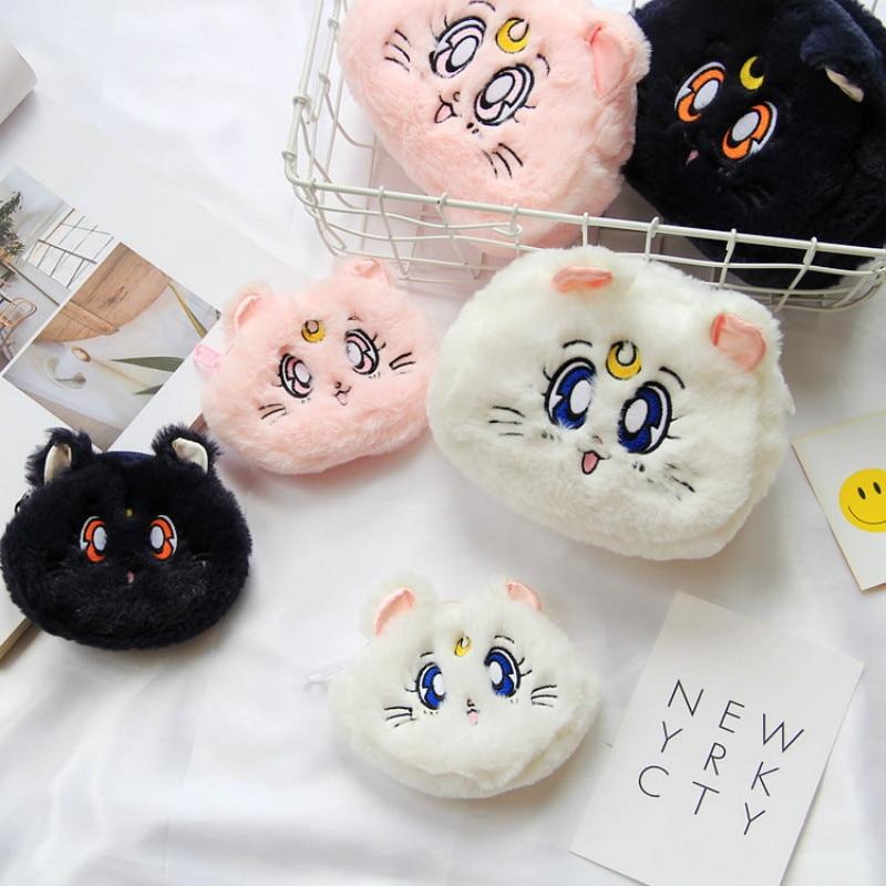 Bolso cosmético de viaje en forma de gato de moda, maquillaje bolso, Kit de lavado para chica hermosa, bolsa Lolita, organizador de maquillaje, bolsas de almacenamiento de belleza