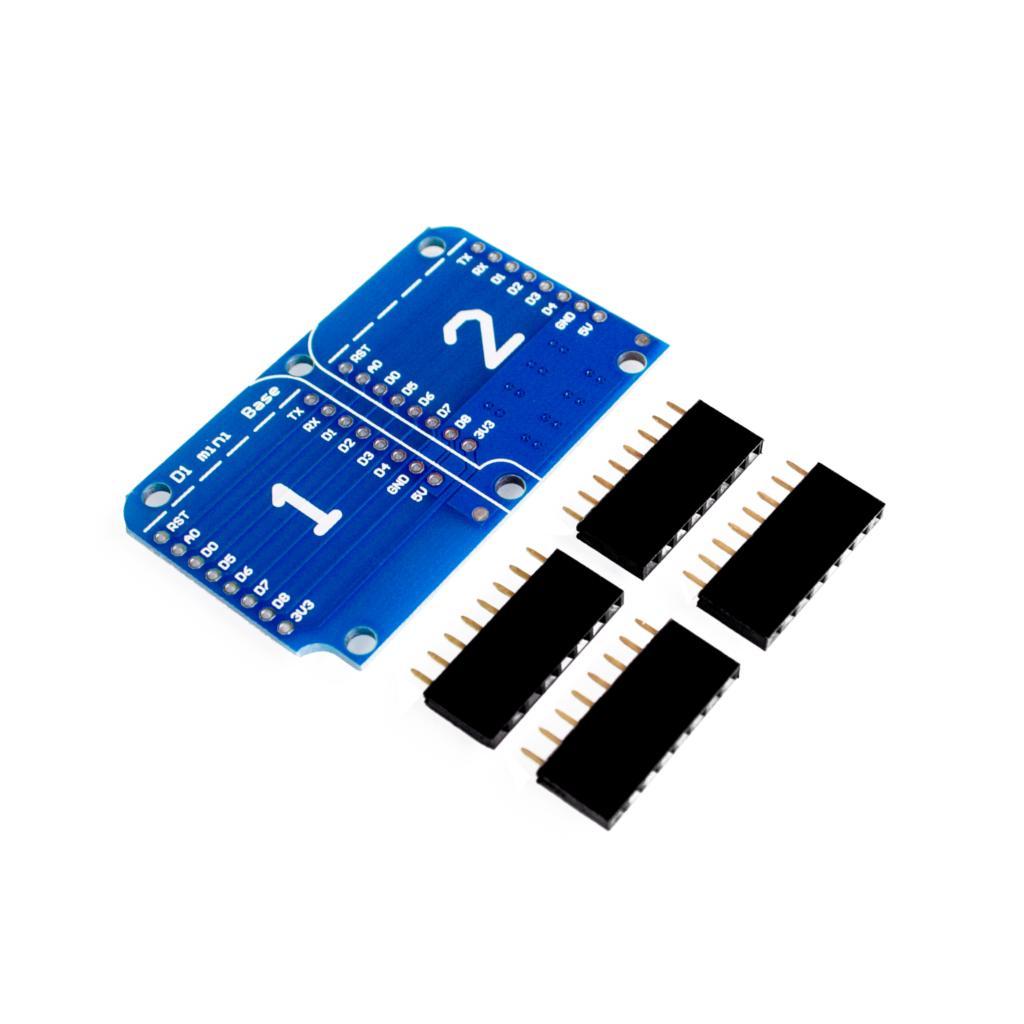 Doble enchufe doble Base escudo para D1 Mini NodeMCU ESP8266