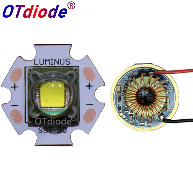 1 Uds. Luminus SST-90 emisor LED hasta 4000LM blanco 6500K 4500K 3000K módulo PCB 20mm cobre + SST-90 tablero de controlador LED