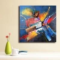 Peinture a lhuile abstraite a la mode  decoration de maison sur toile  Art mural moderne  affiche imprimee