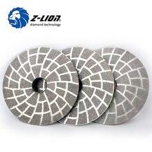 Z-LION 4 Zoll 3 teile/satz Diamant Vakuum Löten Polieren Pad 100mm Granit Beton Marmor Schleifen Werkzeug Sharp Schleifen disc