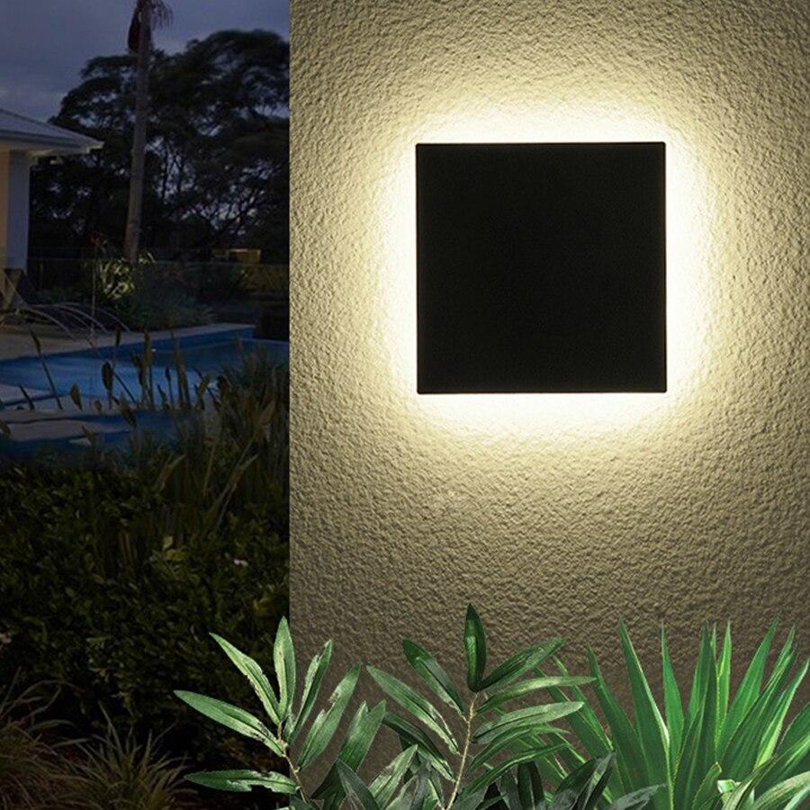 Thrisdar-مصباح حائط LED خارجي مقاوم للماء ، مصباح حائط ، مقاوم للماء ، 12 وات ، للحديقة ، الحديقة ، الشرفة ، الممر ، الشرفة ، الفندق ، السياج ، الباب ا...