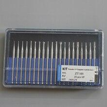 Low Speed Popular HP Tungsten Caibide Burs Kit Tungsten Steel Burrs Tooth Drill Dental Lab Materials Supplies