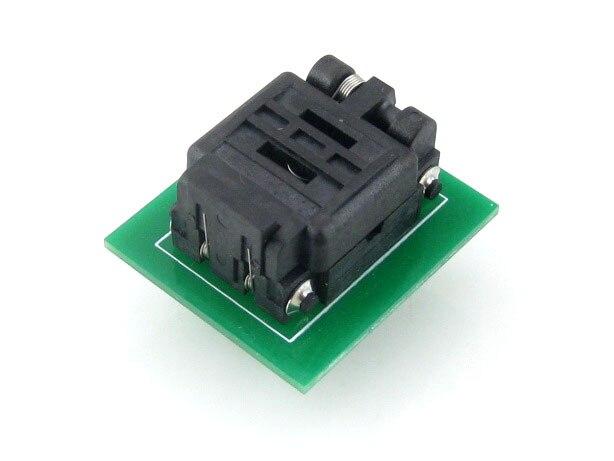 Wavesahre QFN8 a DIP8 (C) adaptador de programador de placas IC adaptador de prueba toma de encendido 8*6mm 1,3 paso para paquete QFN8 MLF8 MLP8