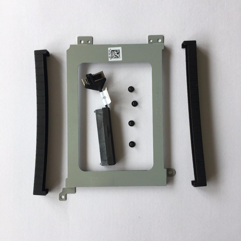 Cable conector de disco duro Original para Dell XPS 15 9550 M5510 9560 M5520 XDYGX + soporte HDD Caddy 3FDY3 + tornillos + riel de goma