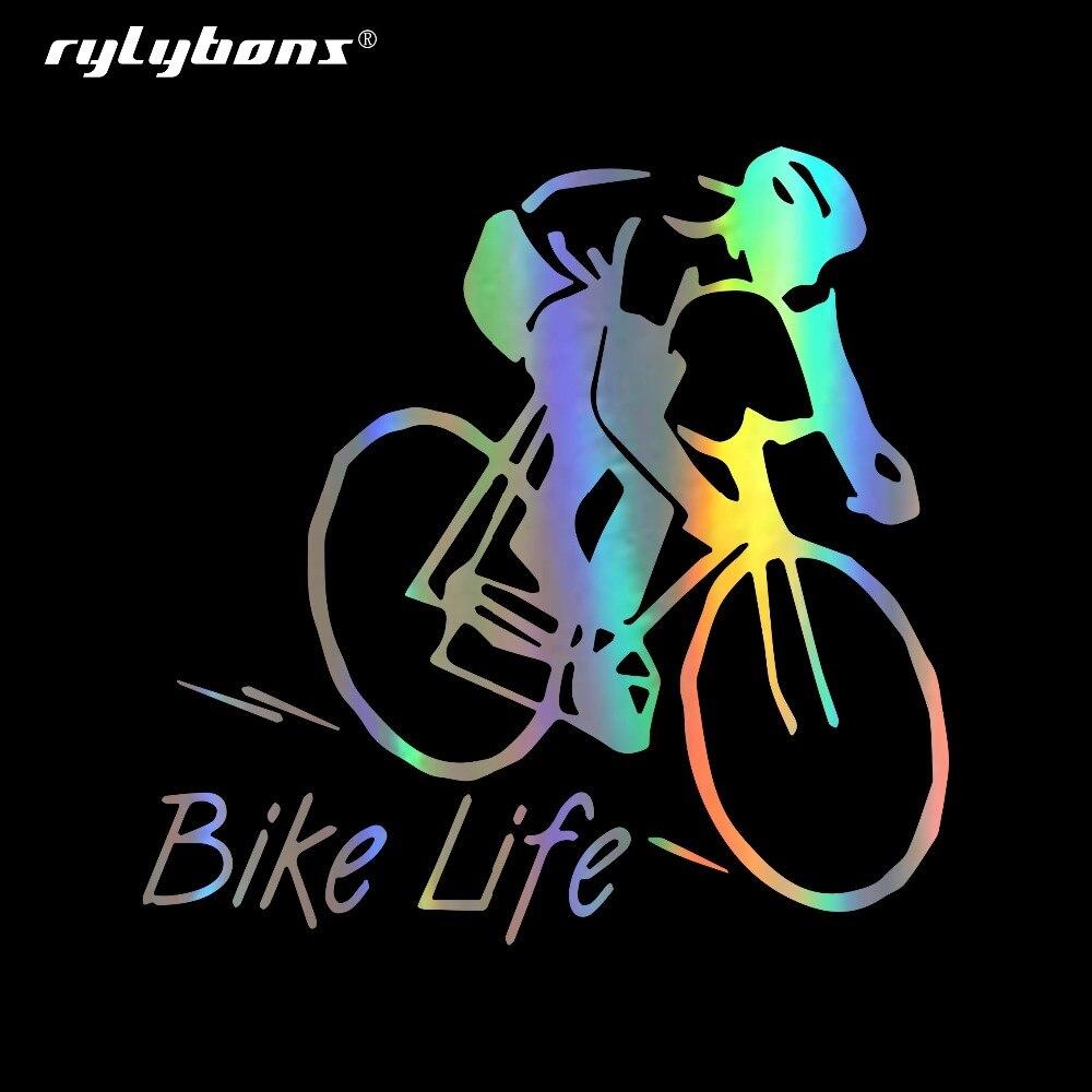 Pegatina Rylybons de 8,8 CM x 8,9 CM para coche, pegatinas para bicicleta, bicicleta de montaña, pegatinas para coches, productos para automóviles, accesorios para automóviles