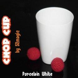 Hacken Tasse (Porzellan Weiß, Kunststoff)-magic trick, bühne magie, zubehör, magie prop, magie tasse